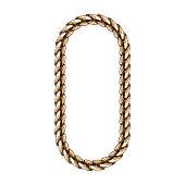 gold chains bracelet isolated on white background. vector illustration