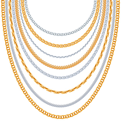 Gold chains vector background