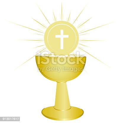 Gold Chalice Holy Communion Symbol Stock Vector Art More Images Of