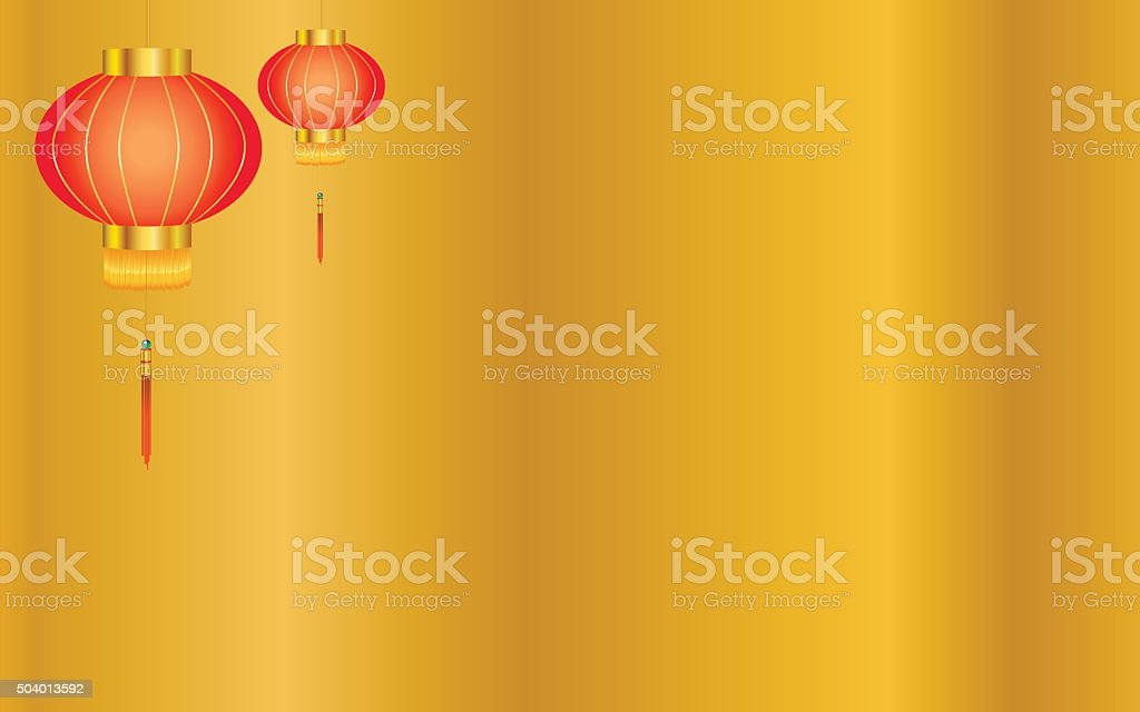 Gold Chinese Lantern Background Royalty Free Stock Vector Art Amp