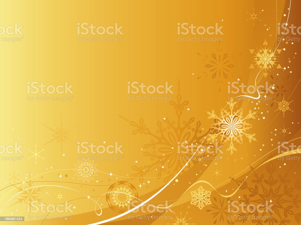 gold Christmas background royalty-free stock vector art