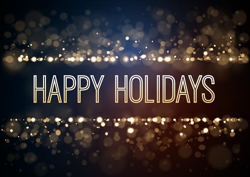 Gold Christmas glitter design background