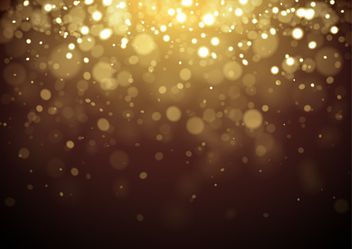 Golden shiny sparkling glittering Happy Holidays background vector illustration for use as background template on Christmas designs, cards, flyers, banners, advertising, brochures, posters, digital presentations, slideshows, PowerPoint, websites