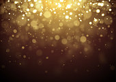 istock Gold Christmas glitter design background 1268618853