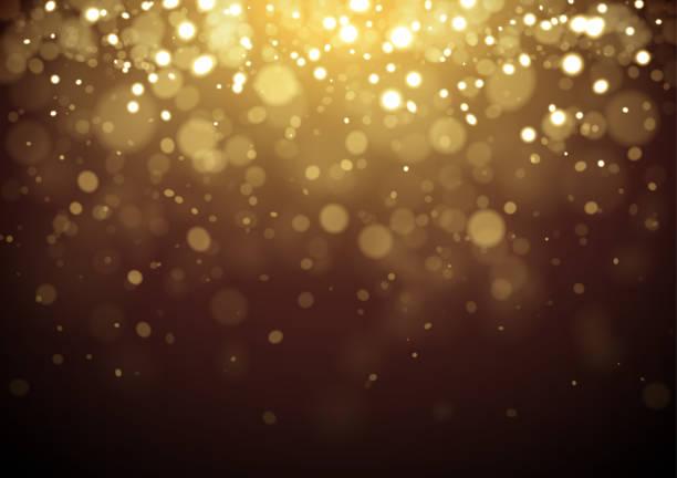 Gold Christmas glitter design background vector art illustration