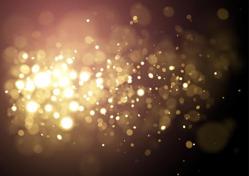 Gold Christmas sparkling glitter design background