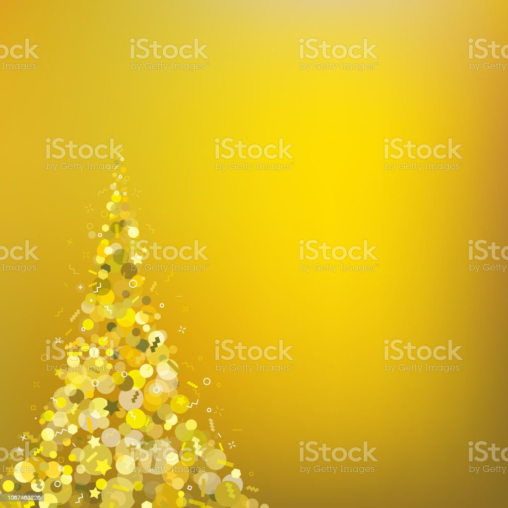 Gold Christmas Tree Background Stock Vector Art More Images Of