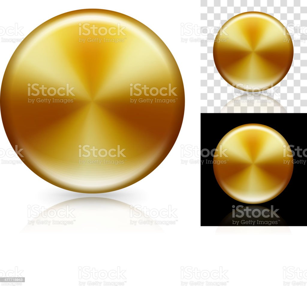 Gold Circle Element Background Set royalty-free gold circle element background set stock vector art & more images of alloy