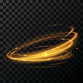 gold circle light effect in vector