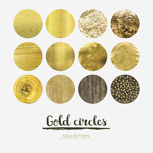 Gold circles vector art illustration