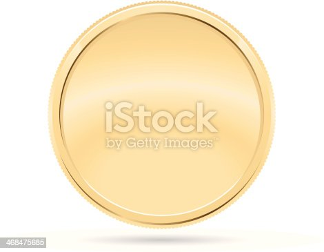 istock Gold Coin, Medal 468475685
