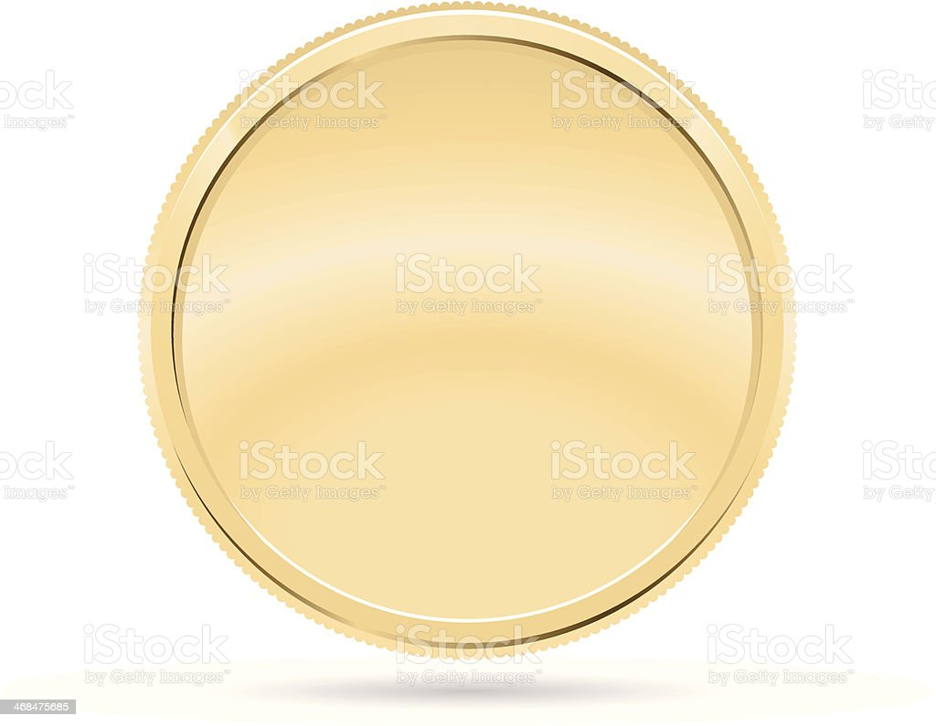 Gold Coin, Medal vector art illustration