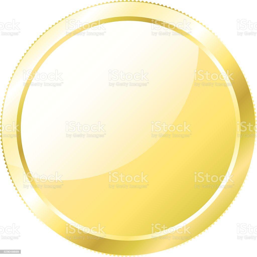 Gold Coin, Money vector art illustration