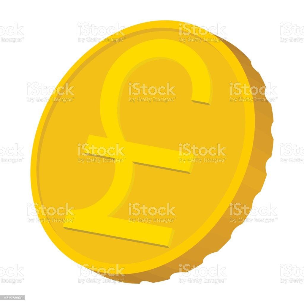Gold coin with Pound sign icon, cartoon style gold coin with pound sign icon cartoon style - arte vetorial de stock e mais imagens de antiguidades royalty-free
