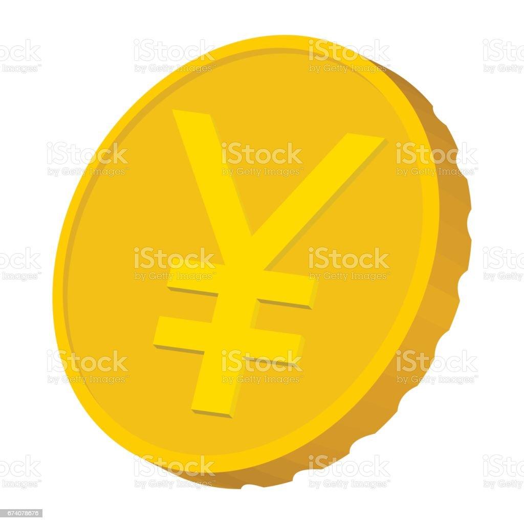 Gold coin with Yen sign icon, cartoon style gold coin with yen sign icon cartoon style - arte vetorial de stock e mais imagens de banda desenhada - produto artístico royalty-free