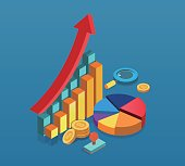 gold coins and Isometric data
