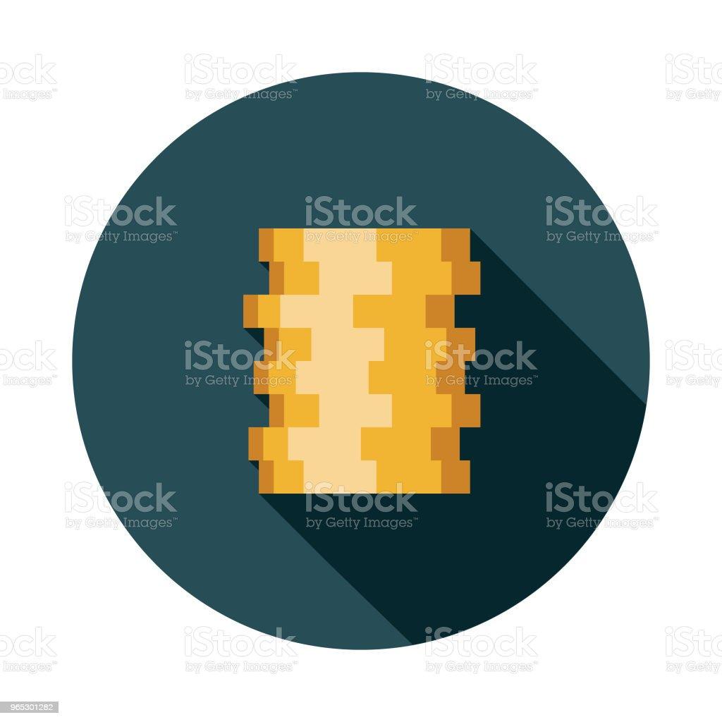 Gold Coins Flat Design Fantasy Icon gold coins flat design fantasy icon - stockowe grafiki wektorowe i więcej obrazów antyczny royalty-free