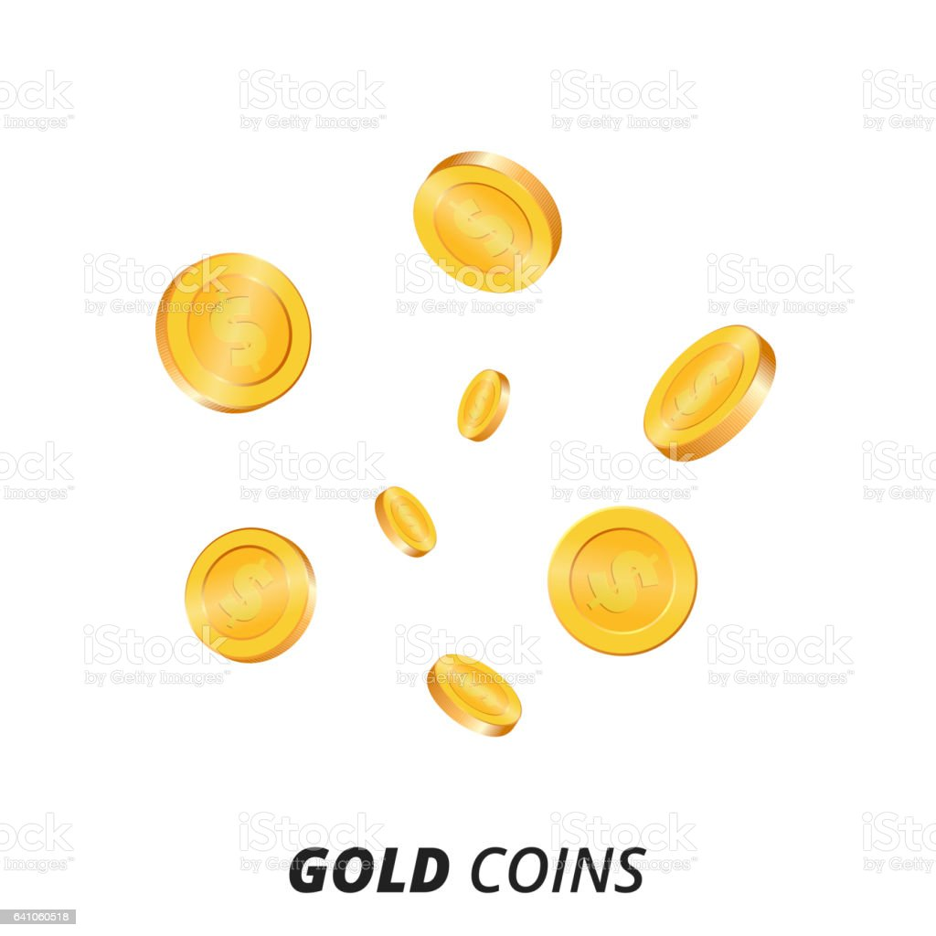 gold coins vector illustration gold coins background 3d