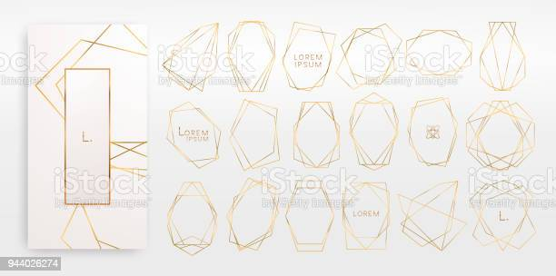 Gold collection of geometrical polyhedron art deco style luxury vector id944026274?b=1&k=6&m=944026274&s=612x612&h=fe37zniaxlwuvkkyh3yueb6fquk2iktkvlj3ypbluo4=