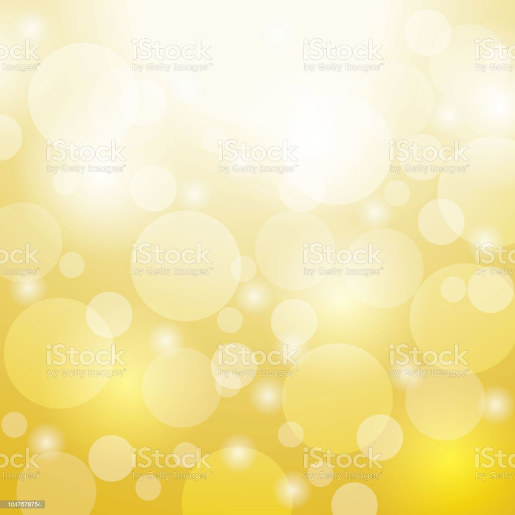 Gold Color Bokeh Vector Background Design For Studioroom Web