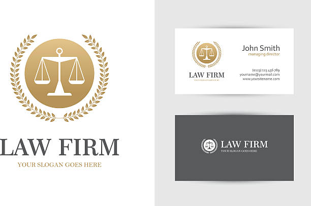 gold colored law symbol with scales - lawyer stock illustrations, clip art, cartoons, & icons