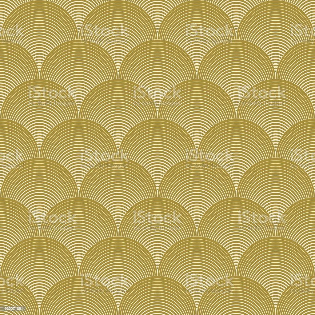 gold colored wave pattern vector art illustration