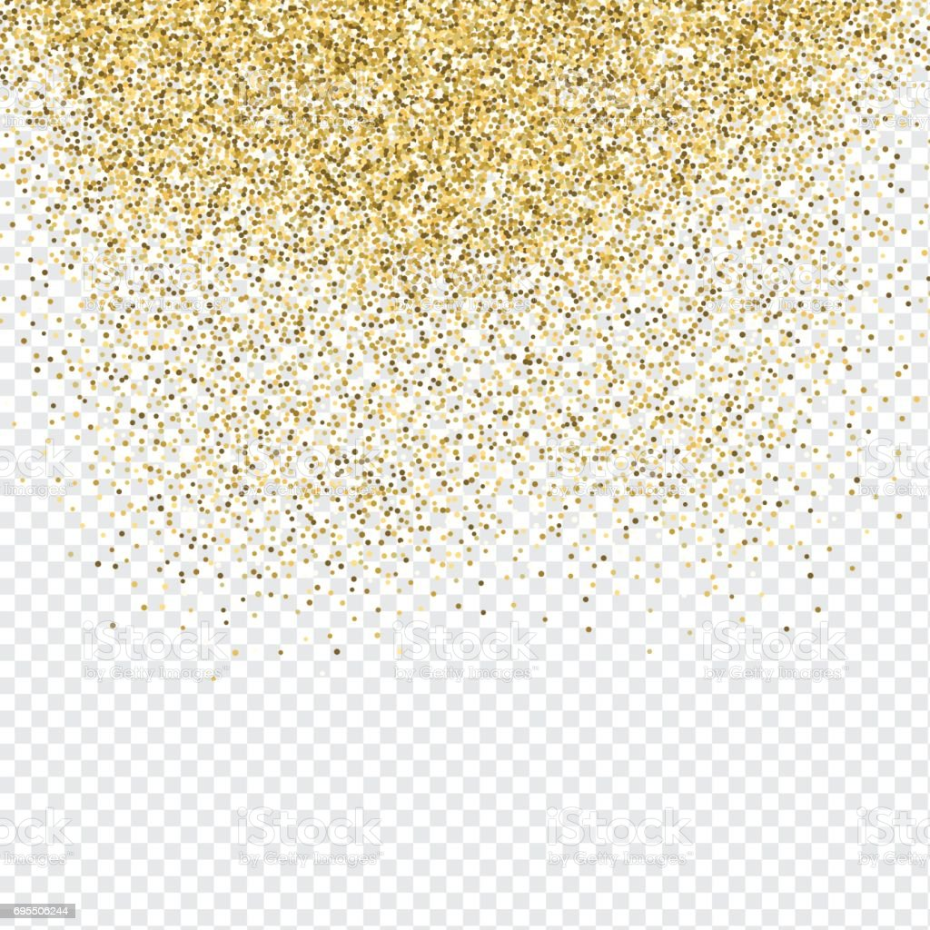 Gold confetti background vector art illustration