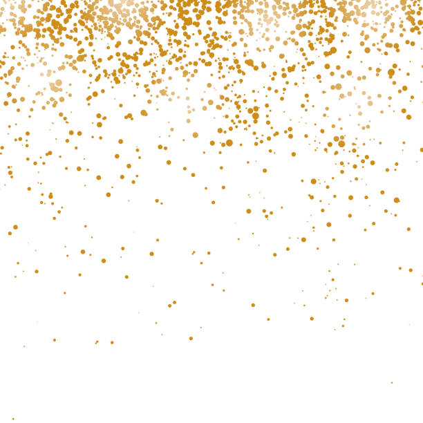 Gold Confetti Pattern vector art illustration