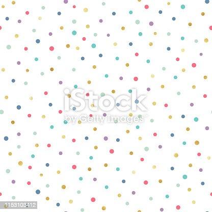 Festive gold confetti repeating pattern design