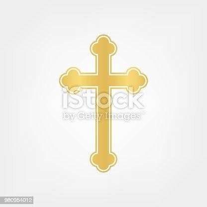 istock gold cross vector 980954012