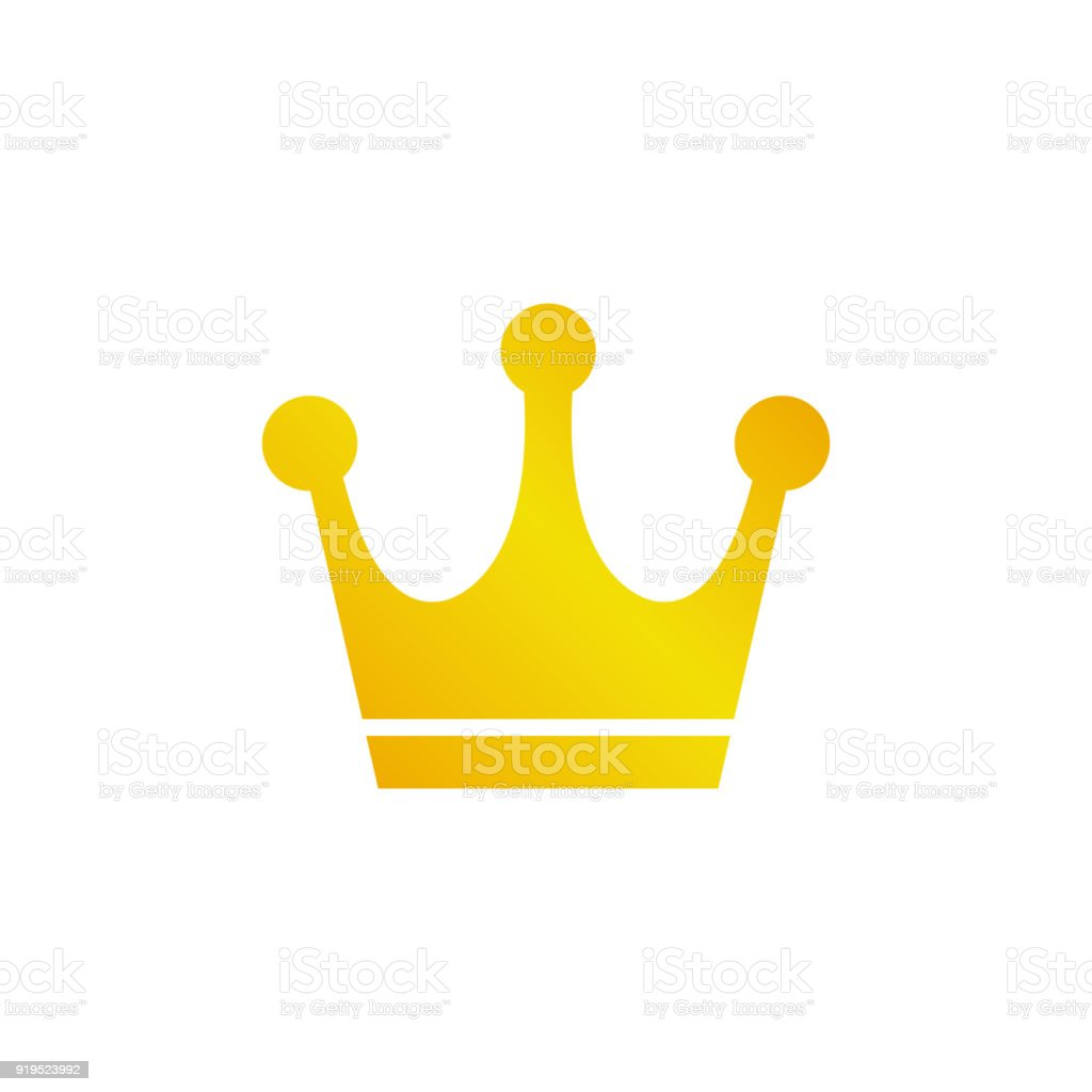 Gold Crown Icon Stock Vector Art More Images Of Authority