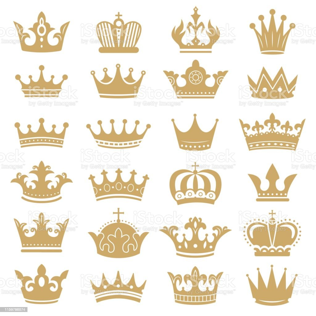 Gold Crown Silhouette Royal Crowns Coronation King And Luxury Queen Tiara Silhouettes Icons Vector Set Stock Illustration Download Image Now Istock Here you can explore hq crown silhouette transparent illustrations, icons and clipart with filter polish your personal project or design with these crown silhouette transparent png images, make it. gold crown silhouette royal crowns coronation king and luxury queen tiara silhouettes icons vector set stock illustration download image now istock