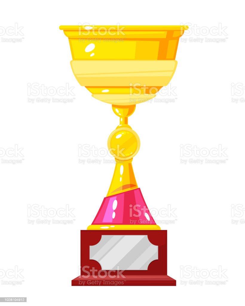 Gold Cup Award Golden Trophy Cup Winner Symbol Of Leader Stock