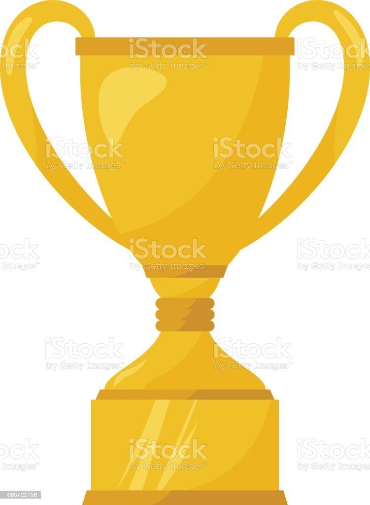 Gold cups on white Lizenzfreies gold cups on white stock vektor art und mehr bilder von comic - kunstwerk