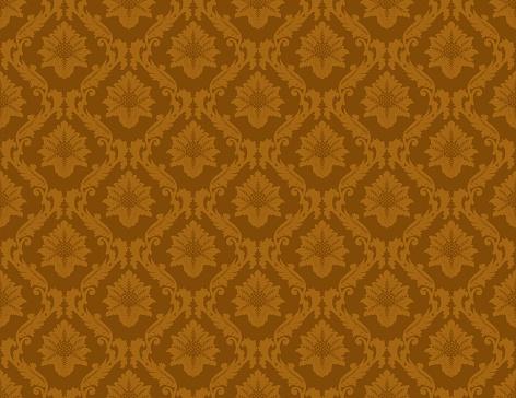 Gold Damask Luxury Decorative Textile Pattern