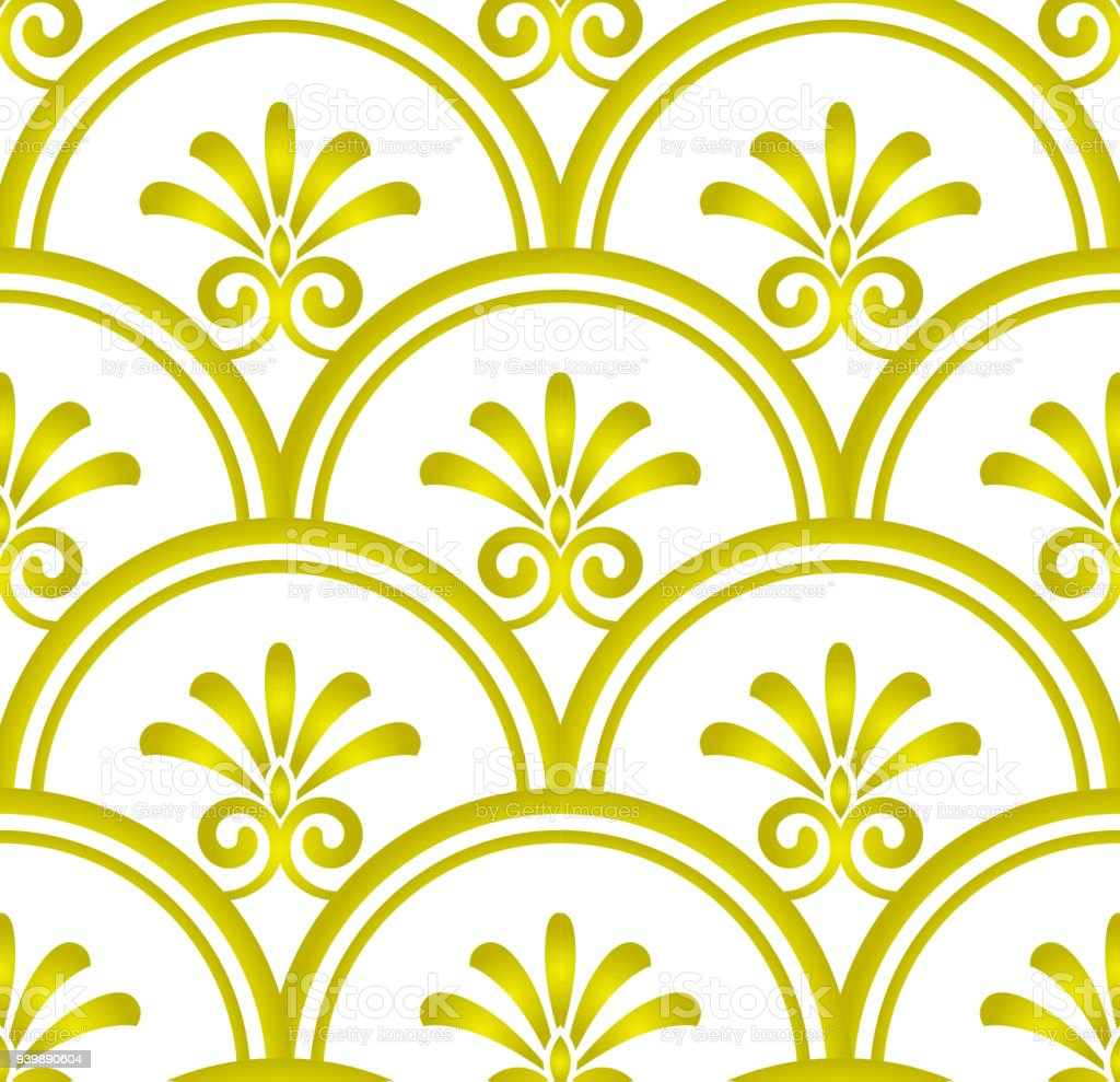 Gold Damask Pattern Stock Vector Art & More Images of Abstract ...