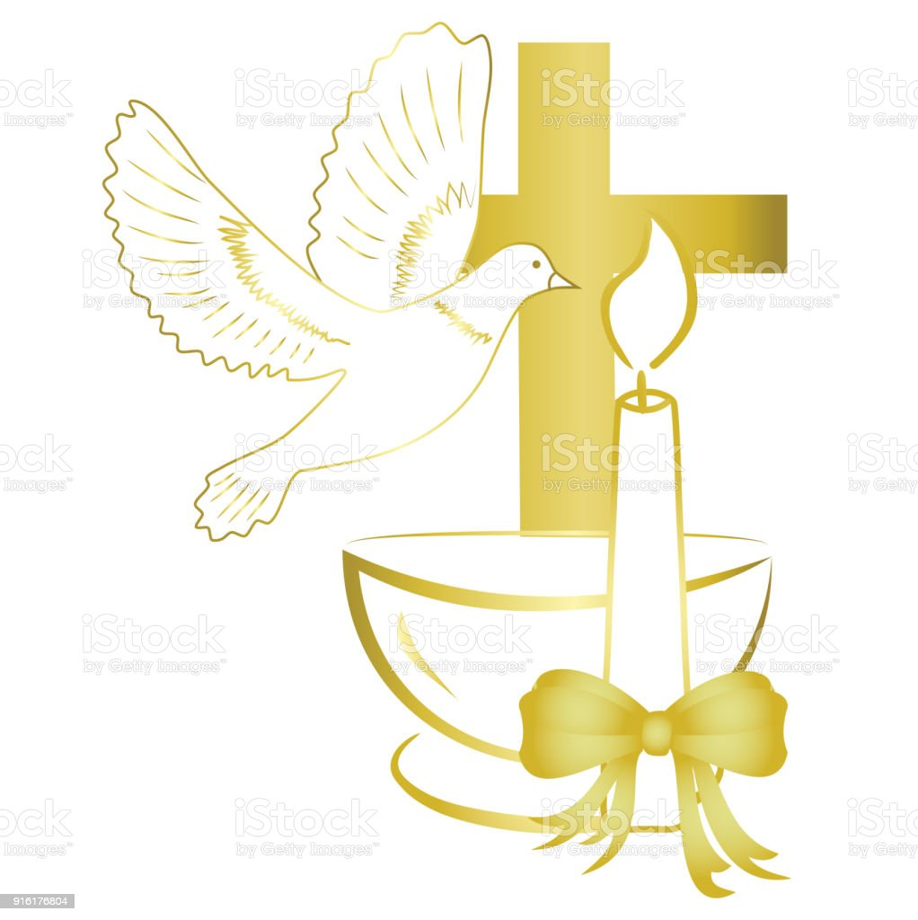 Gold design for sacrament of baptism invitation card stock vector gold design for sacrament of baptism invitation card royalty free gold design for stopboris Gallery