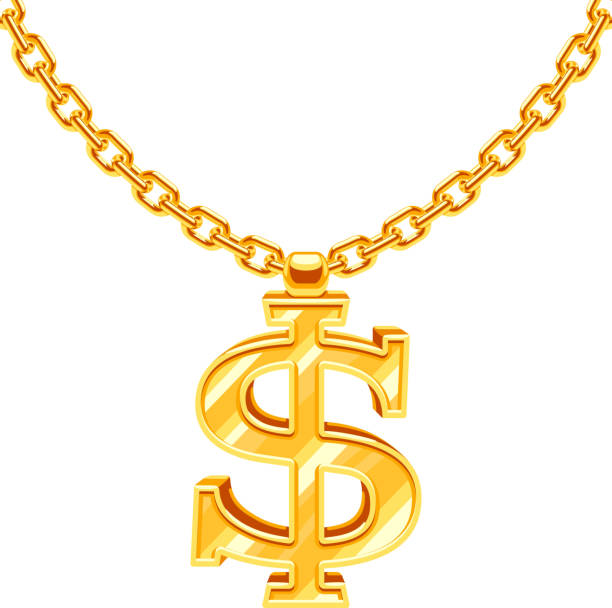 Best Gold Chain Necklace Illustrations, Royalty-Free ...