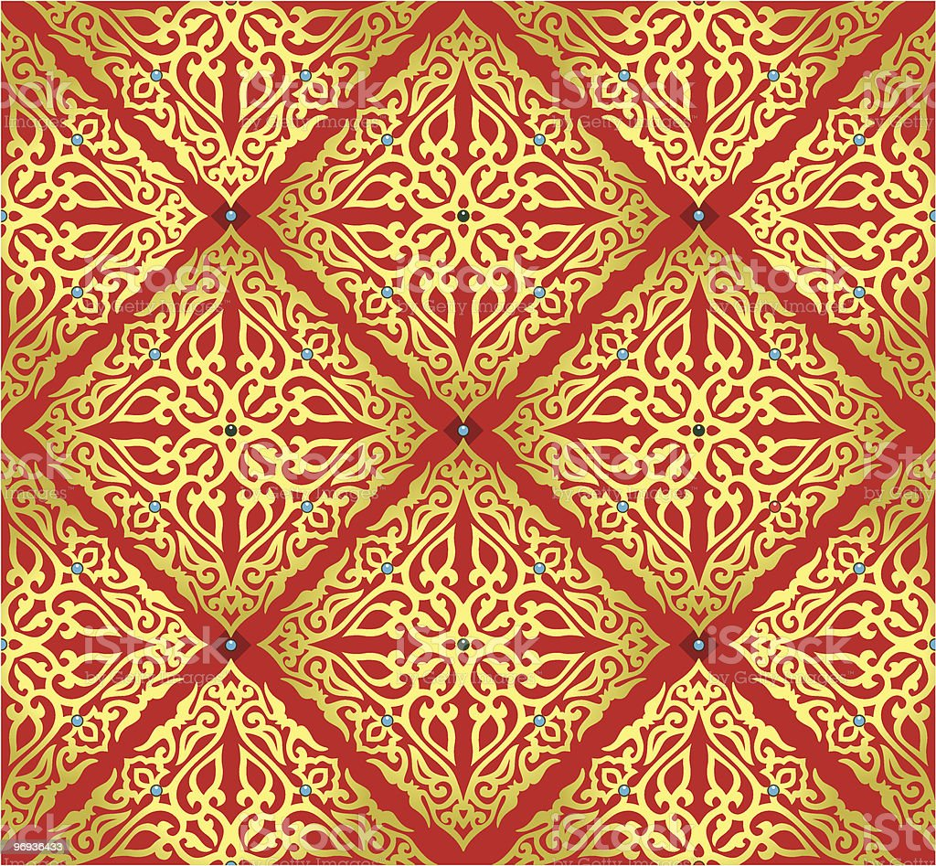 Gold east pattern royalty-free gold east pattern stock vector art & more images of backgrounds