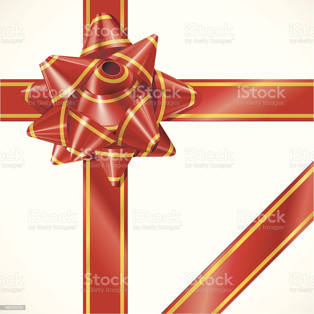 Gold Edged Gift Ribbon royalty-free stock vector art