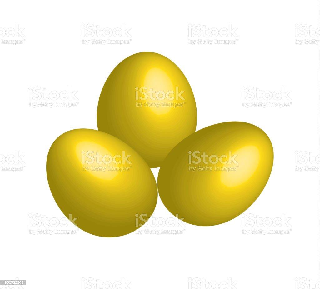 gold eggs vector - Royalty-free Bright stock vector