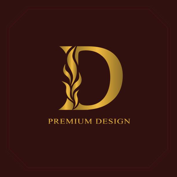 Royalty Free Letter D Tattoo Designs Clip Art, Vector