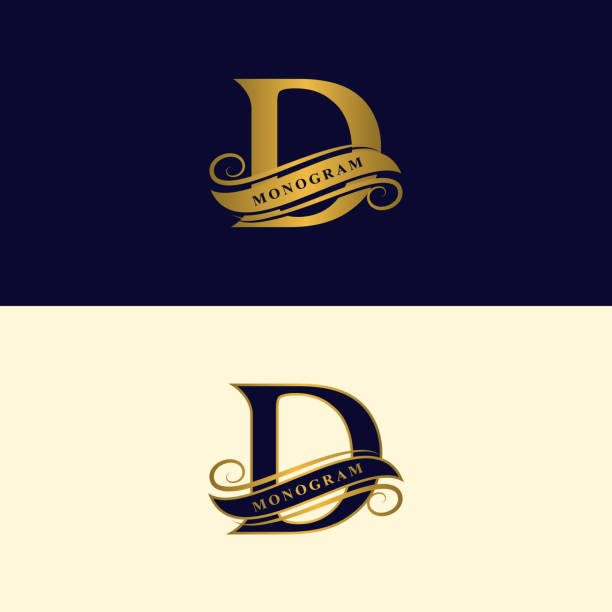 Tattoo Style Letter D Clip Art Vector Images Illustrations
