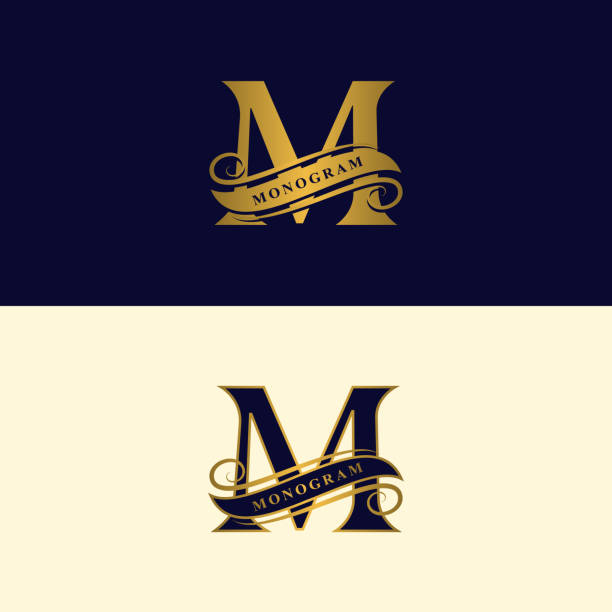 Best Letter M Tattoo Illustrations Royalty Free Vector