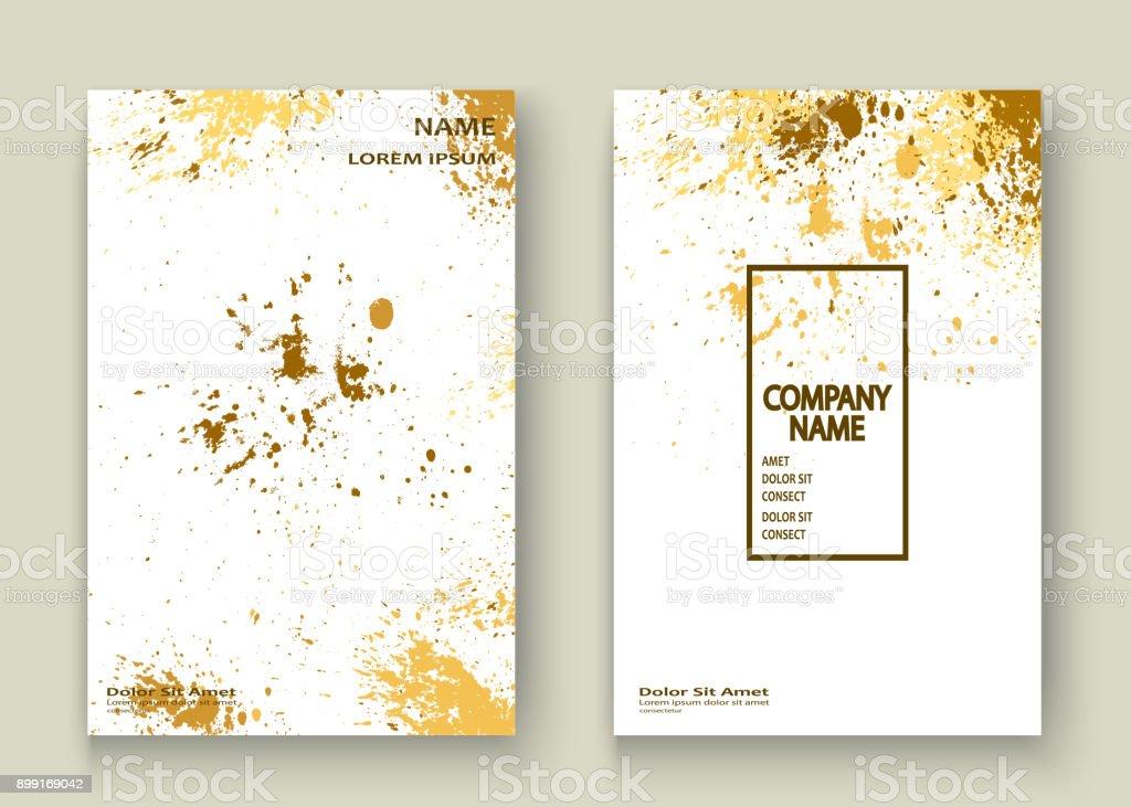 Gold Explosion Farbspritzer Künstlerische Cover Rahmendesign ...