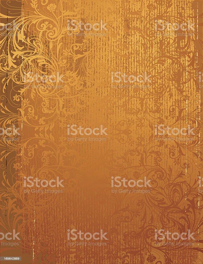 Gold Filigree Grunge royalty-free stock vector art