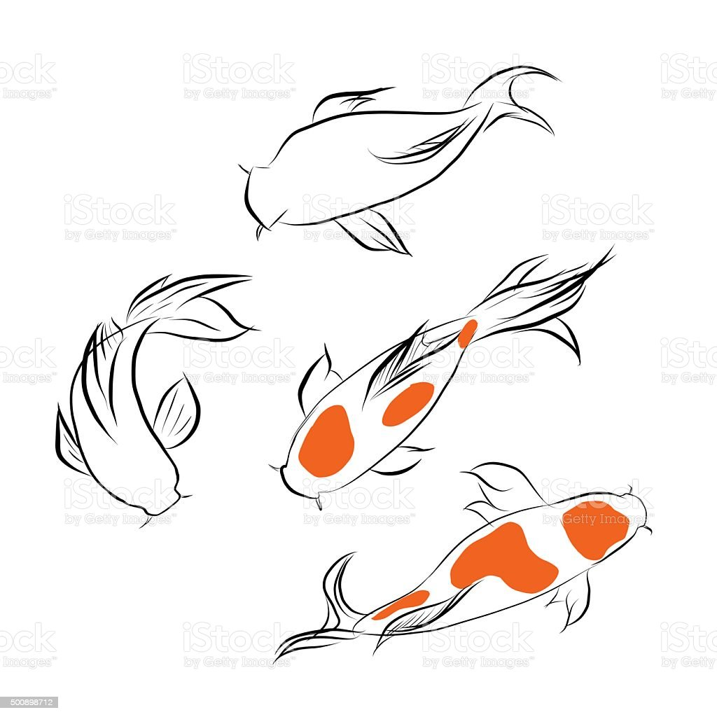 Collection De Poissons Rouges Illustration Vectorielle De Poisson