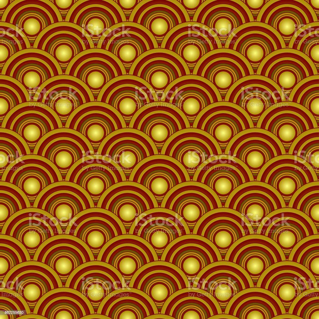 Gold fish squama vector art illustration
