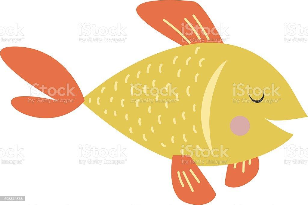 Gold fish vector illustration. vector art illustration