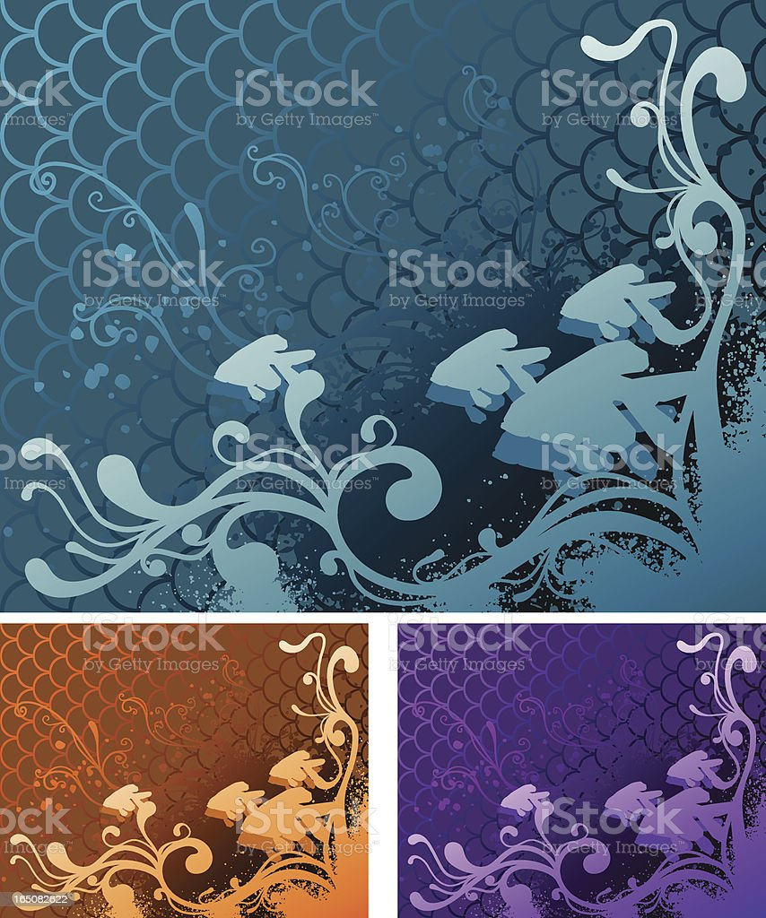Gold Fish Wallpaper royalty-free stock vector art
